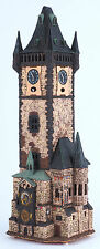 Handmade Ceramic candle house Old town astronomical clock in Prague