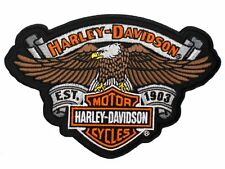 HARLEY DAVIDSON ESTABLISHED 1903 EAGLE VEST PATCH BAR AND SHIELD BANNER