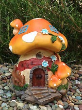 Miniature Dollhouse FAIRY GARDEN Gnome ~ Large Orange Mushroom House ~ NEW