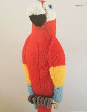 Printed Knitting Pattern For Parrot Animal Toy