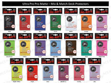 300 ULTRA PRO PRO-MATTE DECK PROTECTORS SLEEVES LOT MTG 6 Pks Mix & Match Colors
