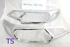 CHROME HEAD LIGHT LAMP COVER TRIM FOR HONDA JAZZ FIT GK 5DR HATCHBACK 2014-2015