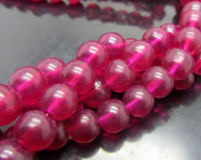 Wholesale 30pcs 8mm  Glass Pearl Round Spacer Loose Beads rose colour