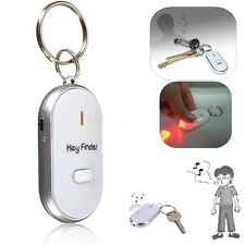 Whistle Sound Control White LED Key Finder Locator Find Lost Keys Keychain Chain
