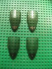Lego Windscreen 4x7x2 Trans-Black Smoke STAR WARS Lot of 4 pcs 7259 7180
