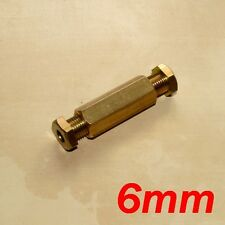 6mm Brass Coupling Joiner for joining LPG GPL Autogas Copper Pipes Tubes - NEW!