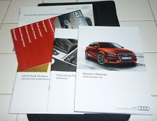 2016 AUDI A3 S3 OWNERS MANUAL SET 16 w/case + MMI RADIO GUIDE