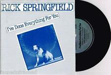 """RICK SPRINGFIELD - I'VE DONE EVERYTHING FOR YOU - 7"""" 45 VINYL RECORD w PIC SLV"""