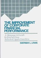 The Improvement of Corporate Financial Performance: A Manager's Guide -ExLibrary