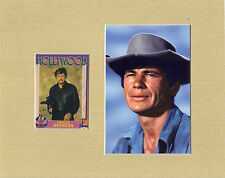 Charles Bronson Signed matted with photo COA 01/17