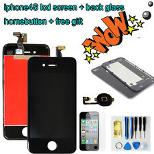 For iPhone4S LCD Display Touch Screen Digitizer+back cover+homebutton Black