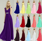 New Cap Wedding Ball Evening Formal Party Prom Bridesmaid Dress Stock Size 6-18