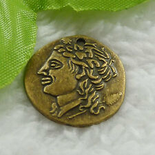 Free Ship 56 pcs bronze plated coin charms 22mm #668