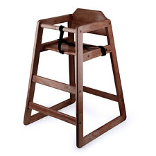 New Restaurant Style Wooden High Chair with Dark Finish