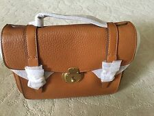 Polo Ralph Lauren Brass Lock Vanchetta School bag Color Tan MSRP 695.00$