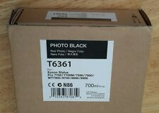 01-2018 NIB EPSON T6361 Photo Black Ink 700ml for Stylus Pro 7890/7900/9890/9900