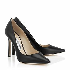 NEW JIMMY CHOO  'Abel' Pointy Toe Pump BLACK (Women) 37.5 US 7.5