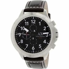 Armani Exchange 50mm Romulous Chrono Leather Men's Watch AX1754 NEW! Tag $200.00