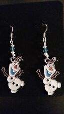 Disney's FROZEN OLAF Earrings Silver Plated With Swarovski Crystals