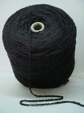 Solid Black Bulky 550 ypp Soft Rayon Boucle Cone Yarn~3.65 lbs