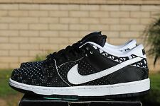 NIKE DUNK LOW PREMIUM BHM SB QS SZ 9 WHITE BLACK HISTORY MONTH 745956 010