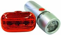 Bike Bicycle Cycle Safety Super Bright Front & Rear Back LED Torch Light Kit Set
