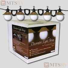 Tasco Patio String Light Set -5 White Globes w/Weathered Bronze Shades PL-05-BWB