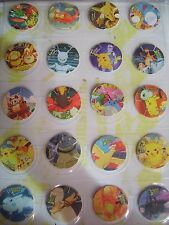 POKEMON - COMPLETE COLLECTION OF 50 POGS TAZOS OF POKEMON 2000 THE MOVIE