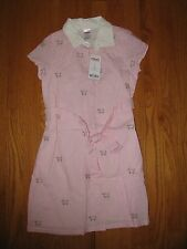 NWT Girls Gymboree pink Puppy preppy dress Size 7 NEW