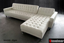 White Genuine leather sectional Sleep sofa King Bed S0402RW