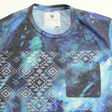 Mens ON THE BYAS All Over Pattern Galaxy Pocket Pac Sun UO T Shirt XS/S