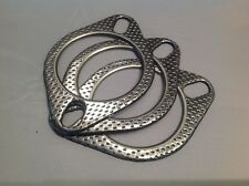 "3 x 2 1/2"" (63mm) Exhaust Gaskets, High Performance, Two Pin, Fire Ringed"