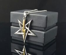 Church of Satan Sigil of Anton LaVey pendant necklace 316L Stainless