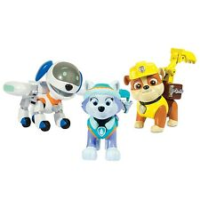 PAW PATROL Box 3 FIGURE Action ROBODOG EVEREST RUBBLE Figures SPIN MASTER Nuovo