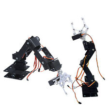 1 Set DIY 6 DOF Aluminium Mechanical Robotic Arm Clamp Claw Mount Robot Kit