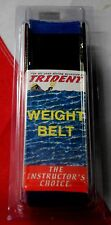 "Scuba diving weight belt dive equipment Trident BLUE 58""x2"" webbing dredging fun"