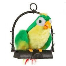 Talk Back Parrot Imitates Your Voice Repeat What You Say Fun Gag Joke Toy Green