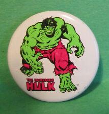 1978 THE INCREDIBLE HULK VINTAGE COMIC BOOK MARVEL SUPERHERO PREMIUM PIN