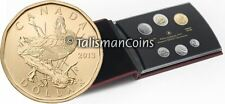 Canada 2013 6 Coin Specimen Set with Blue Winged Teal Duck Loonie $1 Dollar