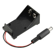 NEW 9V Battery Holder Box Case Wire Lead with Plug 5.5*2.1mm for Arduino