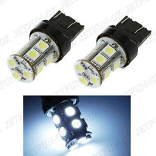 2X White T20 7443 5050 13 SMD LED Car Tail Brake Stop Parking Light Bulbs 7444NA