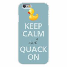 Keep Calm and Quack On Rubber Duck FITS iPhone 6+ Plastic Snap On Case Cover New