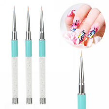 New Nail Art Liner Tips Crystal Handled Nail Painting Drawing Pen Brush Tool