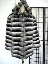 BRAND NEW RANCH EMPRESS CANADIAN CHINCHILLA FUR JACKET COAT HOOD MEN MAN SZ ALL