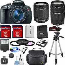 Canon Rebel T5i Camera Bundle w/18-55mm STM+ canon 75-300mm III+ 9pc VALUE KIT