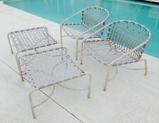 Vintage Brown Jordan Kantan Patio Lounge Chairs & Ottomans,Refinishing Available