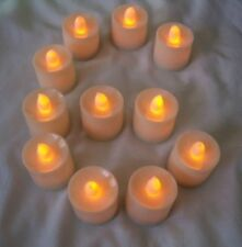 6 pcs Orange Flameless Flickering LED Candle Tea Light Home Decoration Supplies