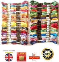 Variegated Anchor Cotton thread skeins cross stitch 40 demanding colours