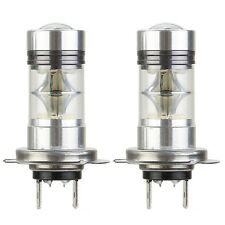 2X H7 100W CREE LED Fog DRL Driving Car Head Light Lamp Bulbs White Super Bright