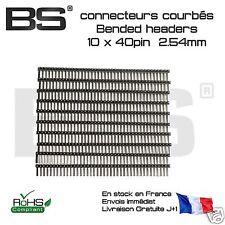 10x Barrettes coudées headers 40 pin Mâle sécable 2.54mm Arduino ESP32 STM32